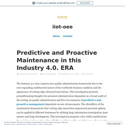 predictive and proactive management