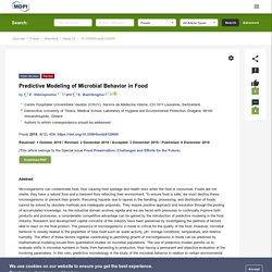 FOODS 06/12/19 Predictive Modeling of Microbial Behavior in Food