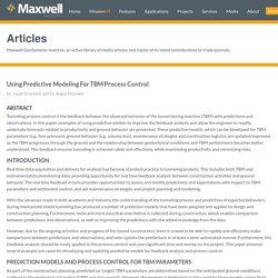 Using predictive modeling for TBM process control - MGS Article