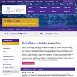 Online Master of Science in Predictive Analytics, Northwestern University School of Continuing Studies