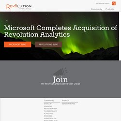 Revolution Analytics - Commercial Software & Support for the R Statistics Language