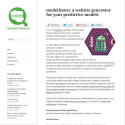 modelDown: a website generator for your predictive models – SmarterPoland.pl