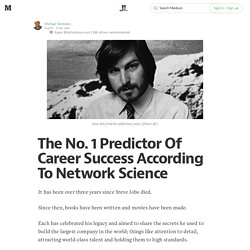 The No. 1 Predictor Of Career Success According To Network Science — Life Learning