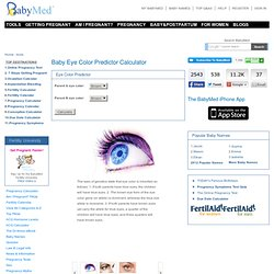 Baby Eye Color Predictor Calculator