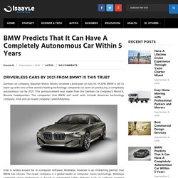 BMW Predicts That It Can Have A Completely Autonomous Car Within 5 Years