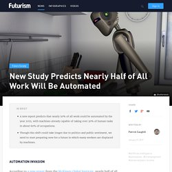 Nearly half of current jobs could be automated by 2055, according to a new report