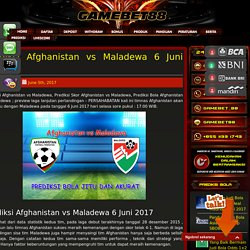 Prediksi Afghanistan vs Maladewa 6 Juni 2017