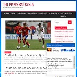 Prediksi skor Korea Selatan vs Qatar - INI PREDIKSI BOLA