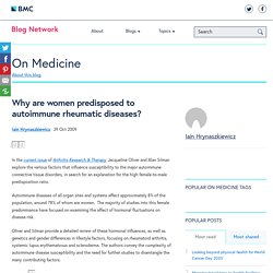 Why are women predisposed to autoimmune rheumatic diseases?