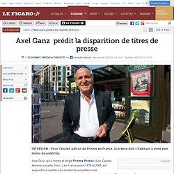 Axel Ganz prédit la disparition de titres de presse