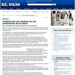 Predominan las mujeres en las profesiones de la salud - Diario EL PAIS - Montevideo - Uruguay