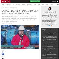 Smer dal do predvolebného videa hlasy a tváre televíznych redaktorov