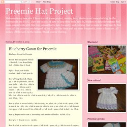 Blueberry Gown for Preemie