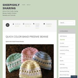 Quick Color-Band Preemie Beanie
