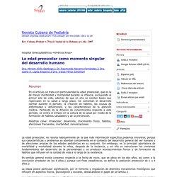 Revista Cubana de Pediatría - La edad preescolar como momento singular del desarrollo humano