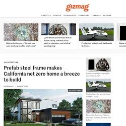 Prefab steel frame makes California net zero home a breeze to build