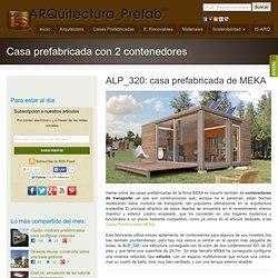 ALP_320: estudio prefabricado hecho con 2 contenedores