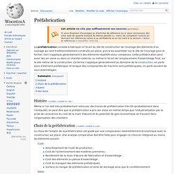 Préfabrication - Wikipédia - Waterfox