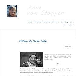 Préface de Pierre Rabhi - Anne van Stappen