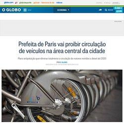 Prefeita de Paris vai proibir circulação de veículos na área central da cidade
