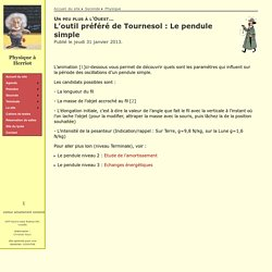 Le pendule niveau 1 L'outil préféré de Tournesol