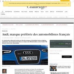 Audi, marque préférée des automobilistes français