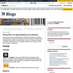 iPhone/iPad : les appli préférées de la rédaction