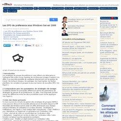 Les GPO de préférence sous Windows Server 2008