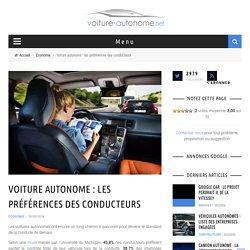 Voiture autonome : les préférences des conducteurs