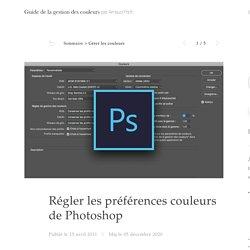 Préférences couleurs de Photoshop