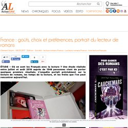 France : goûts, choix et préférences, portrait du lecteur de romans