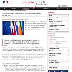 Liste des accords et préférences unilatérales de l'Union européenne