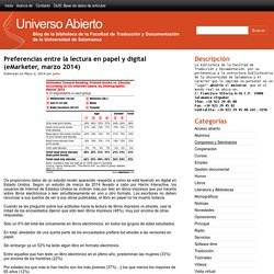 Preferencias entre la lectura en papel y digital (eMarketer, marzo 2014)
