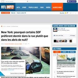New York: pourquoi certains SDF préfèrent dormir dans la rue plutôt que dans les abris de nuit?