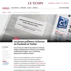 Les jeunes préfèrent s'informer via Facebook et Twitter