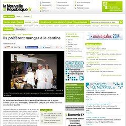 NOUVELLE REPUBLIQUE 16/05/13 Tours - Ils préfèrent manger à la cantine