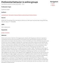 Preferential behavior in online groups | cameronmarlow.com