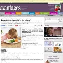 AVANTAGES 13/02/15 Quels sont les plats préférés des enfants ?