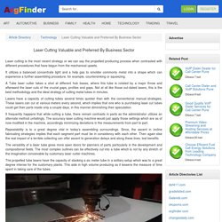 Laser Cutting Valuable and Preferred By Business Sector