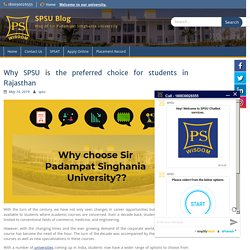 Why SPSU is the preferred choice of students in Rajasthan for admissions