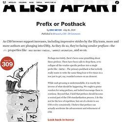 Prefix or Posthack