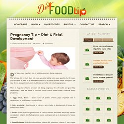 Pregnancy Tip – Diet & Fetal Development