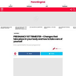 PREGNANCY 1ST TRIMESTER – Changes that take place in your body and how to take care of yourself – ParentingAsk