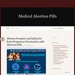 Women Freedom and Safety for Early Pregnancy Termination with Abortion Pills