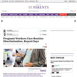 Pregnant Workers Face Routine Discrimination, Report Says