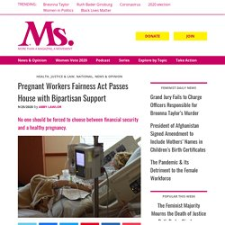 9/25/20: Pregnant Workers Fairness Act Passes US House w/Bipartisan Support