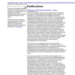 La pregnenolone - Articles - Publications du docteur de Jaeger - Institut de Jaeger