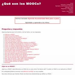 Preguntas y respuestas - ¿Qué son los MOOCs?