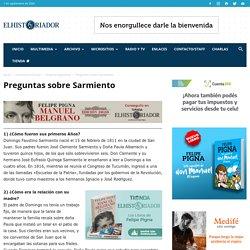 Preguntas sobre Sarmiento