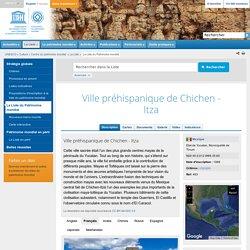 Ville préhispanique de Chichen - Itza